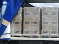 Ubusi pallets packed with water.